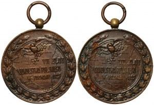 VII zlot Sokolinictwa Polskiego w Poznaniu 1929 - 2 sztuki