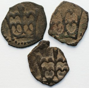 Władysław III Warneńczyk (1434-1444) - Zestaw 3 sztuk denarów