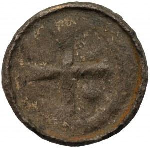 Denar Krzyżowy - fals lub naśladownictow z epoki