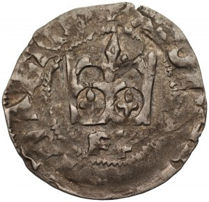 Władysław II Jagiełło (1386-1434) - Półgrosz Kraków - Litera F‡