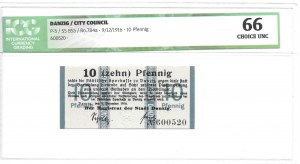 Gdańsk - Danzig - Magistrat 10 fenigów 1916 - ICG 66