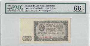 2 złote 1948 - AŁ - PMG 66 EPQ