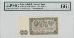 2 złote 1948 - CR - PMG 66 EPQ