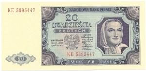 20 złotych 1948 - seria KE
