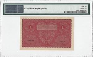 1 marka polska 1919 - I Serja BK - PMG 66 EPQ