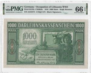KOWNO - 1000 marek 1918 - A - PMG 66 EPQ - MAX nota