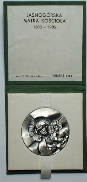 Medal Jasnogórska Matka Kościoła 1382-1982 - Ag 925 -
