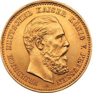 NIEMCY - Prusy - 10 marek 1888 - Fryderyk III