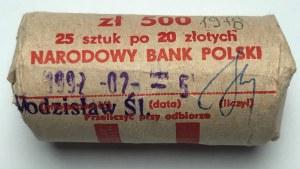 Rolka bankowa (25 sztuk) 20 złotych 1978 Interkosmos