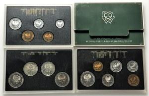 Polskie Monety Obiegowe - zestawy rocznikowe - 1980 ( część I i II) , 1982