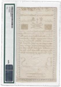 10 złotych 1794 - D - PMG 40 - fragment znaku wodnego COMP-