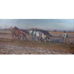 Jan Erazm Kotowski (1885 Opatkowiczki k. Pińczowa - 1960 Milanówek), Orka, 1922 r.