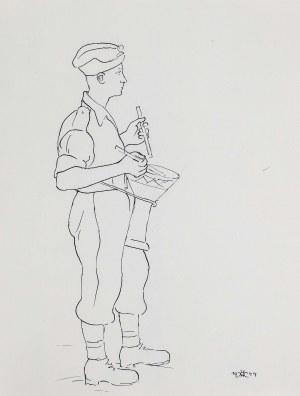 Wlastimil Hofman (1881 Praga - 1970 Szklarska Poręba), Żołnierz