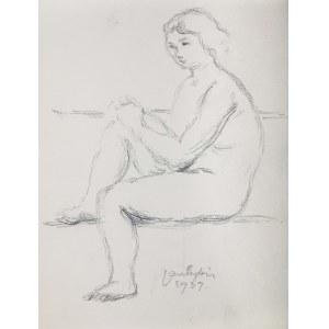 Jan Cybis (1897 Wróblin - 1972 Warszawa), Akt siedzący, 1939