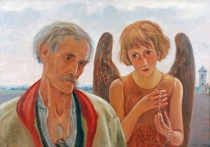 Wlastimil HOFMAN (1881-1970), Gospodarz z Bronowic i Anioł Stróż