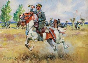 Jerzy KOSSAK (1886-1955), Sygnał po posiłki, 1944
