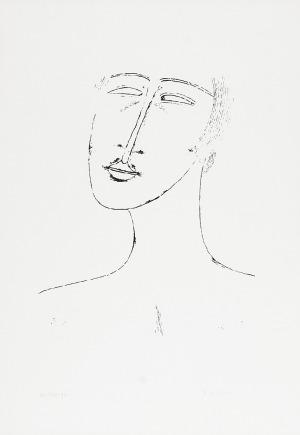 Jerzy NOWOSIELSKI (1923-2011), Głowa, 1999