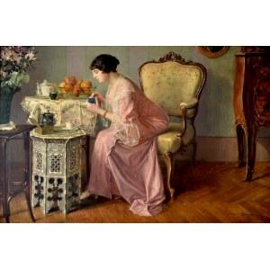 Leonard Winterowski (1886-1927), Poranek przy czarnej kawie, 1913