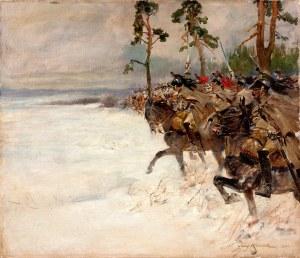 Jerzy Kossak (1886-1955), Kirasjerzy, 1922