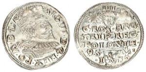 Poland 3 Groszy 1595 Poznan. Sigismund III Vasa (1587-1632). Crown coins 1595. Poznan; hooks at th...