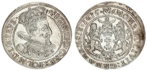 Poland 1 Ort Gdansk 1615 Sigismund III Vasa (1587-1632). City of Gdansk ort 1615. Bust with fan-sh...