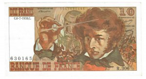 France 10 Francs 1978  Berlioz