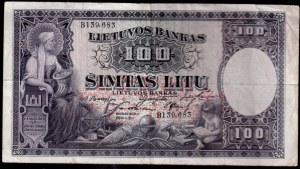 Lithuania Banknote 100 Litu - 1928 Pick #2
