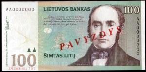 Lithuania 100 Litu Specimen 2000 P#62s