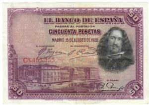 Spain 50 Pesetas 1928
