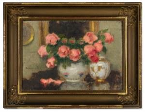 Karpiński Alfons (1875-1961), Róże w wazonie, 1939