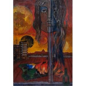 Waniek Eugeniusz (1906-2009), Płonąca paleta, 1970