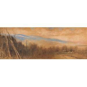 Julian Fałat (1853 Tuligłowy K. Przemyśla - 1929 Bystra K. Bielska Białej), Pejzaż z Bystrej, 1912