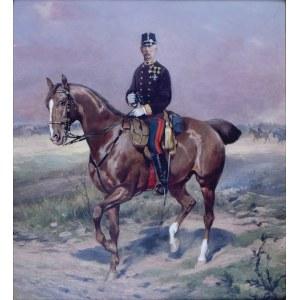 Tadeusz AJDUKIEWICZ (1852-1916), Oficer na koniu
