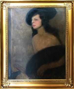 Alfons Karpiński (1875-1961), Portret malarki Carlotty Bologna