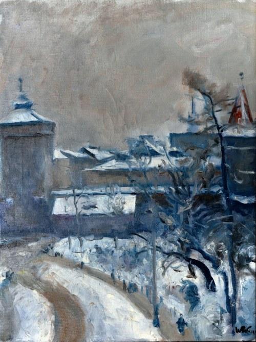 Wojciech Weiss (1875-1950), Widok na Bramę Floriańską