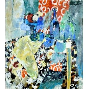 Juliusz Joniak (Ur. 1925), Martwa natura z żółtą draperią, 1996