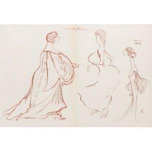 Karol Frycz (1877-1963), Felicja Rutkowska, Bronisława Jeremi w sztuce Siostry bliźnie oraz Helena Sulima w roli Maud w sztuce Półdziewica, 1904