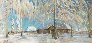Julian FAŁAT (1853-1929), Zima w Nieświeżu