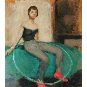 Alfons KARPIŃSKI (1875-1961), Odpoczynek - Hula Hop, ok. 1957