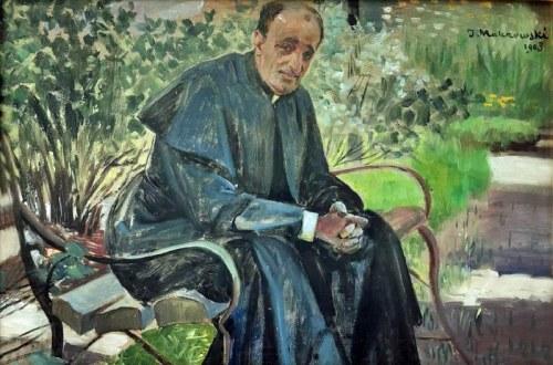Jacek MALCZEWSKI (1854-1929), Ksiądz w ogrodzie