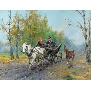 Franciszek ZYGMUNTOWICZ (1875-1947), W drodze na targ
