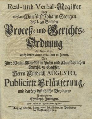 AUGUST II Mocny, król Polski - Des Aller-Durchlauchtigsten, Grossmächtigsten Fürsten und Herrn...