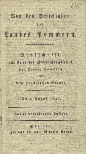 VON den Schicksalen des Landes Pommern...