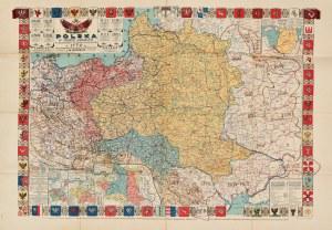 [POLSKA] Bazewicz, Józef Michał - Polska w trzech zaborach w granicach przedrozbiorowych w 1770 r...