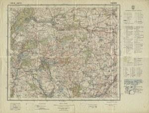 WIĘCBORK. Warszawa 1938, Wojskowy Instytut Geograficzny. 35x46 cm. Pas 35, słup 25. Mapa wielobarwna...
