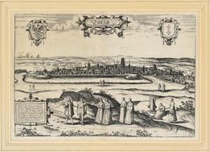 """[GDAŃSK] Hogenberg, Frans (1535-1590) - """"Dantzigt""""; 1576. [Kolonia, Georg Braun, Frans Hogenberg]..."""
