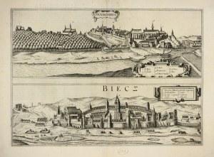 """[SANDOMIERZ, Biecz] """"Sendomiria / Biecz""""; 1617. [Kolonia, Georg Braun, Frans Hogenberg]. Miedzioryt 32,2x44..."""