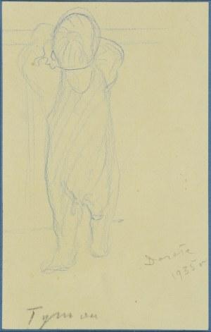 """NIESIOŁOWSKI, Tymon (1882-1965) - """"Dorota""""; 1935. Rysunek 21,5x13,5 cm, sygn. ołówkiem: Tymon, Dorota 1935 r..."""