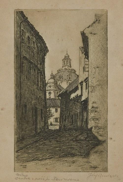 Pieniążek Józef, WILNO. ZAUŁEK Z KOŚCIOŁEM ŚW. KAZIMIERZA, 1923