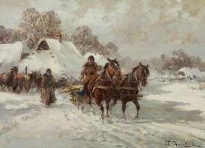 Chmieliński (Stachowicz) Władysław, WYJAZD ZE WSI
